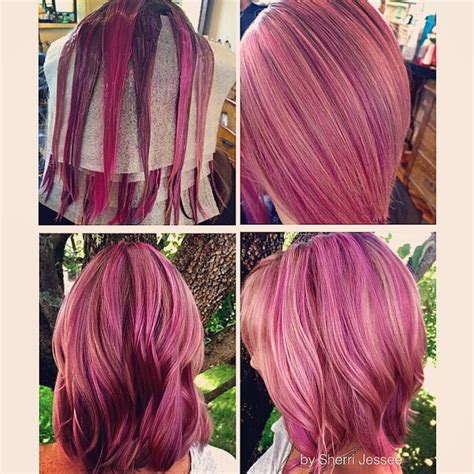 pravana vivids locked in hair pravana chromasilk vivids pastel pink neon pink and