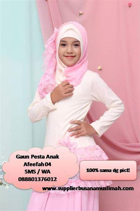 Gaun Muslim Anak busana pesta anak murah www supplierbusanamuslimah