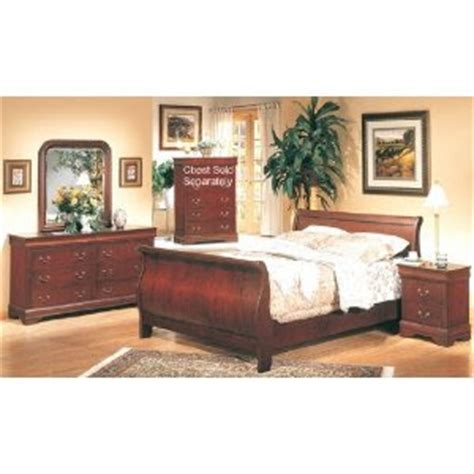 Complete Bedroom Set by Home Design 5pc Cherry Finish Hardwood Eastern King Size