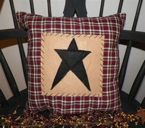 primitive couch covers unstuffed primitive pillow cover barn star prim country home