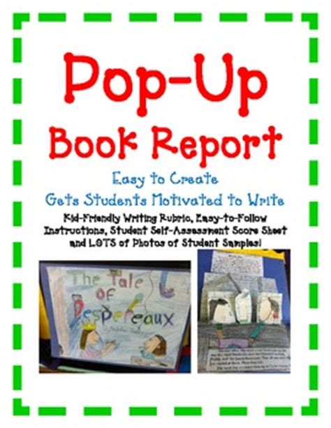 how to make a pop up book report book report pop up book easy directions artistic