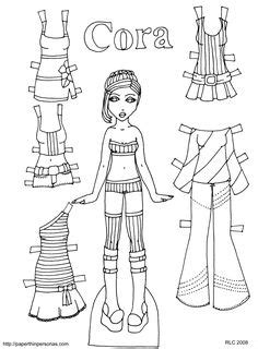 Fashion Paper Doll Template Paper Dolls Beautiful Young Women Different Skin Colors Body Fashion Paper Doll Template