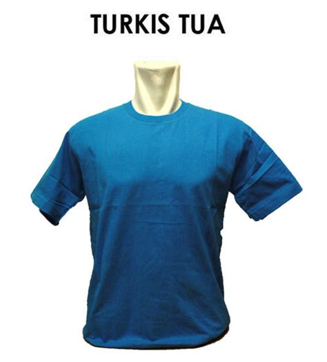 Kaos Polos V Neck Biru Turkis Gelap Cotton Combed 30 S L pemesanan kaos polos harga murah bahan bermutu