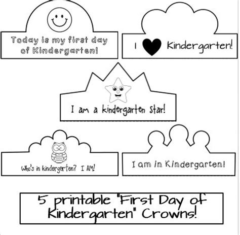 printable crowns for preschoolers first day of kindergarten crowns the o jays jack o