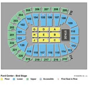 Ford Center Seating Vipseats Ford Center Evansville Tickets