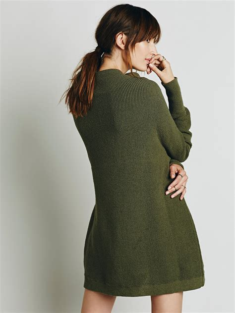 free slouchy ottoman tunic free womens ottoman slouchy tunic in green lyst
