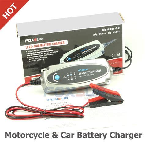 sla battery charger 12v foxsur 12v motorcycle car battery charger 12v lead acid