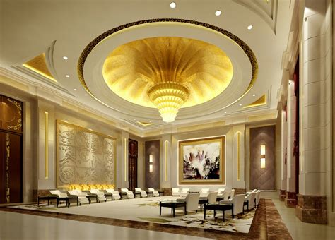 home design 3d ceiling 3d design of chinese vip reception hall