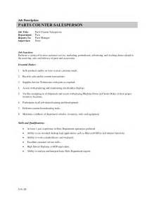 Resume Sle Of Sales Manager by Counter Sales Resume Sales Sales Lewesmr