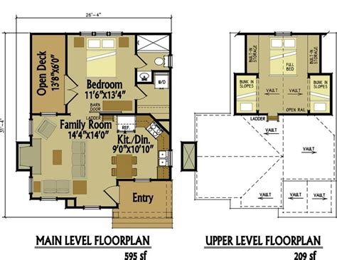 6 tiny floor plans for cozy cottages with surprisingly luxurious small cottage floor plan with loft small cottage designs