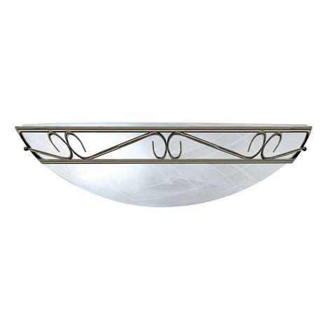 searchlight 6420 flush 1 light antique brass flush wall