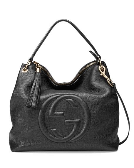 gucci linea convertible backpack 2in1 clemence leather hardware gold gucci soho large leather hobo bag black neiman