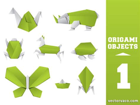 Origami Graphic Design - 100 free vector origami design elements designfreebies