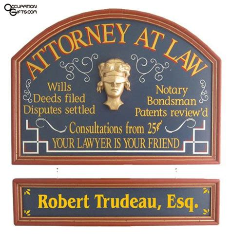 attorney at law personalized sign lawyer gifts