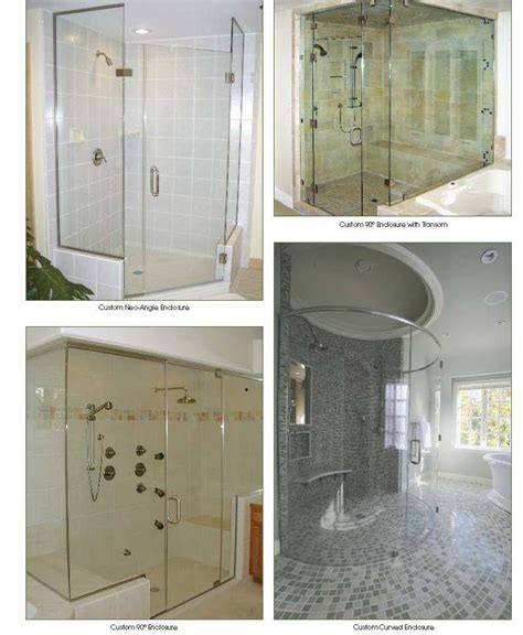 Custom Shower Glass Panels by Kitchener Custom Glass Showers For Bathrooms With Elegance
