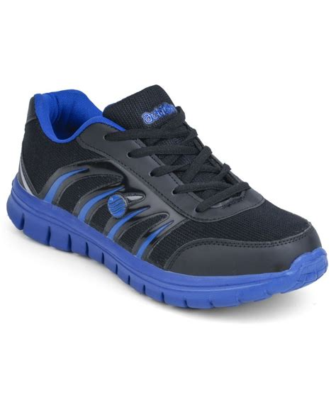 black leather sports shoes buy black synthetic leather sport shoes on snapdeal