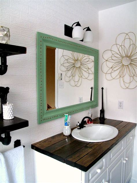 diy bathroom makeover ideas rustic wood vanity diy wood counter top bathroom