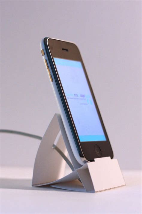 Origami Phone Stand - do some office origami for this cool iphone dock cult of mac