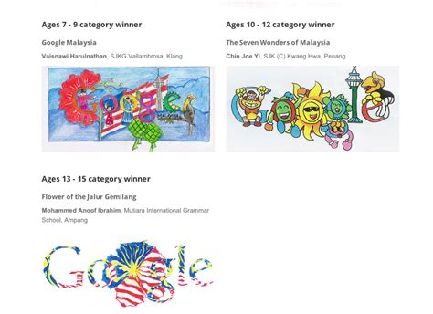 doodle 4 malaysia winner 2014 celebrates malaysia day with commemorative by a