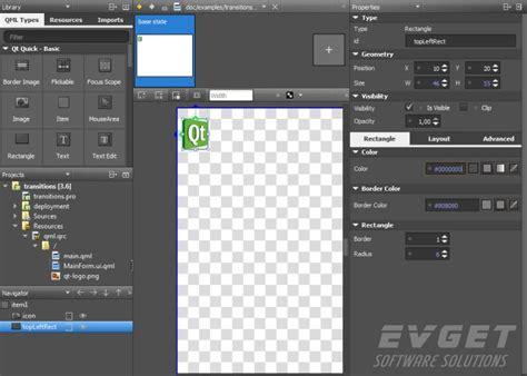 qt designer layout border qt使用教程之创建qt quick应用程序 二 爱程序网