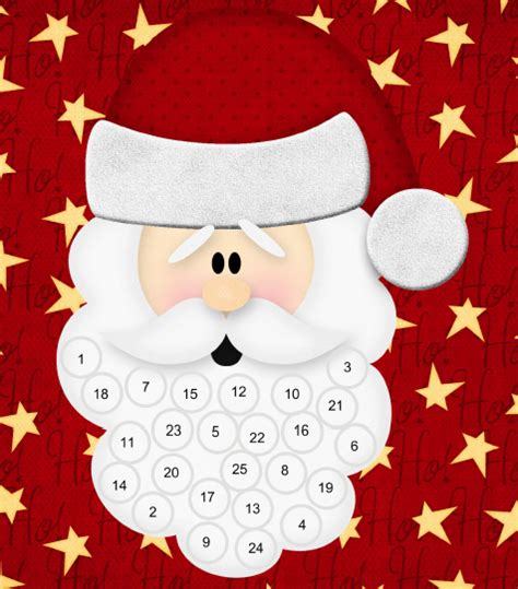 6 best images of santa claus advent calendar printable