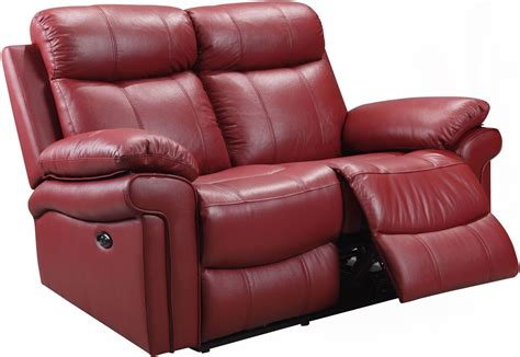 red leather loveseat recliner shae joplin red leather power reclining loveseat 1555