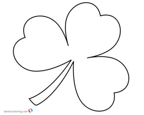 shamrock coloring page st day shamrock coloring pages free printable
