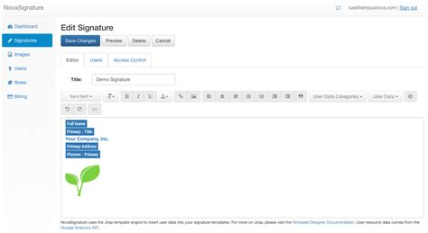 email format google employees new novasignature tool create a unified email