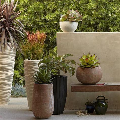 planter s textured stone planters for your mini garden