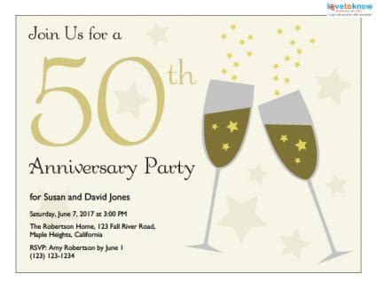 50th wedding anniversary invitations free templates 5 best images of 50th anniversary invitations free