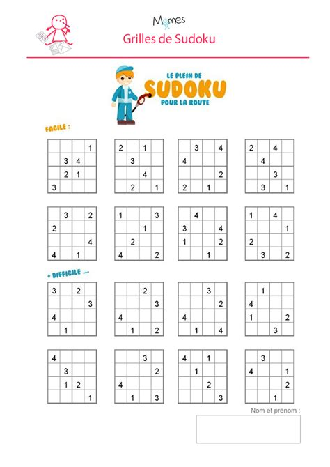 Grille Sudoku Net by Sudoku A Imprimer Sudoku Enfant 224 Imprimer Momes Net
