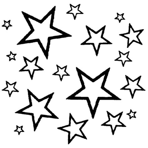 Star Line Drawing Sketch Coloring Page