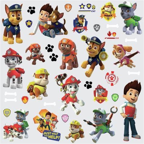 37 stickers personnages pat patrouille sticker sur