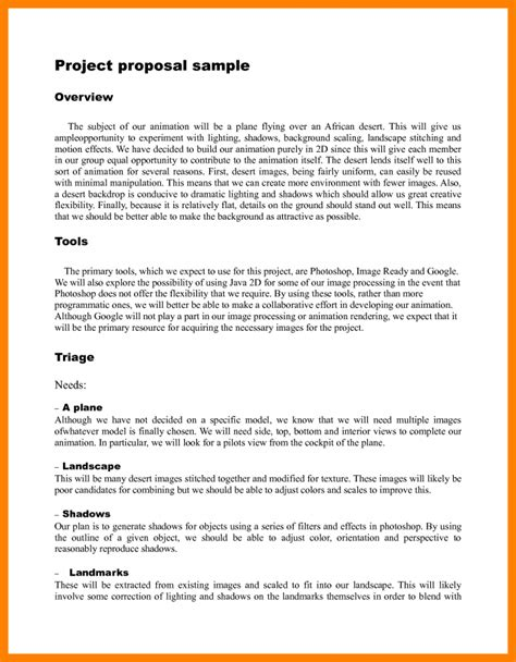 Development Project Proposal Template template project template