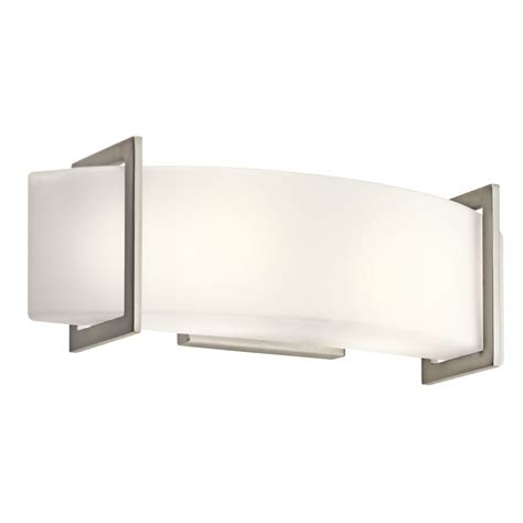 kichler bathroom light fixtures kichler 45218ni brushed nickel crescent view 18 quot wide 2