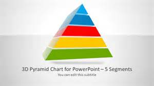 Powerpoint Pyramid Template by 3d Pyramid Template For Powerpoint With 5 Segments