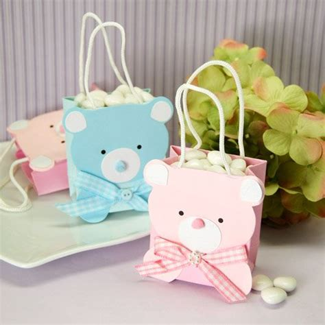 Teddy Baby Shower Favors by Mini Teddy Favor Bag