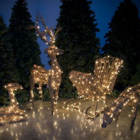 """Outdoor Christmas Decorations   24"""" Grapevine Sitting Fawn"""