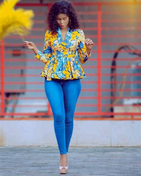 african kitenge tops african print top with jeans latest african fashion