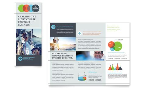 business analyst tri fold brochure template word publisher