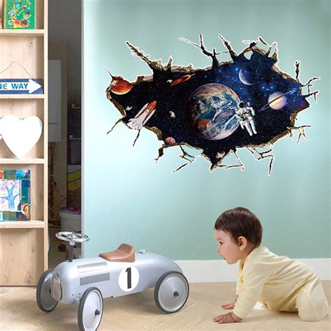 outer space decor comfortable outer space bedroom decor 3d outer space planet wall sticker for kids room decor