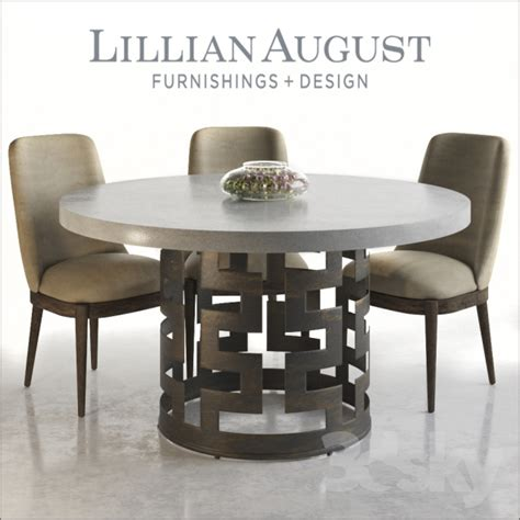 3d models table chair lillian august belgrave dining
