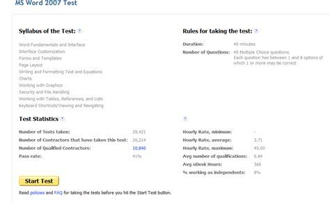 odesk ms word 2007 test fo r all biddersespecially
