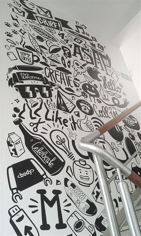 design graphics wall decor agency life mural peterjaycob on inspirationde