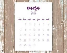 Calendario 2018 Imprimible Imprimir Calendario Etsy Es