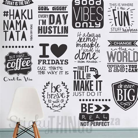 wall word stickers hakuna matata wall sticker stickythings co za