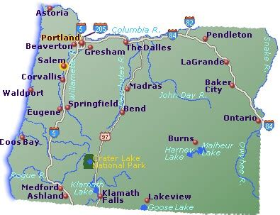 map of oregon major cities oregon map go northwest a travel guide