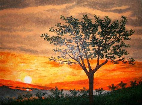 imagenes de paisajes oleo cuadros modernos pinturas y dibujos paisajes africanos