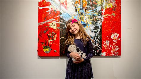 painting for seven year olds 7 year painter opens exhibition in nyc shares