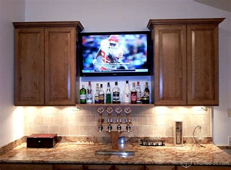 Entertainment Bar Cabinet This Bar And Entertainment Area Features The Carlton Kitchen Cabinets From Cliqstudios In